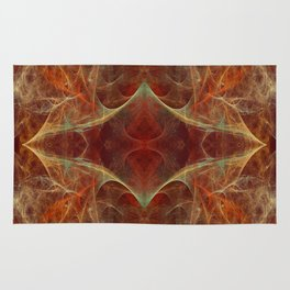Abstract texture in autumn tones Rug