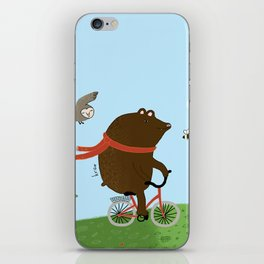 The Bear goes to the City iPhone Skin