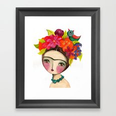 Frida And The Bird In Her Hair Framed Art Print
