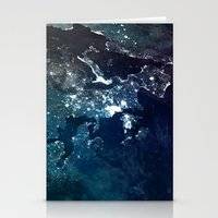 europe Stationery Cards featuring Europe UpsideDown by Marco Bagni