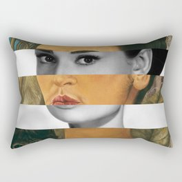 Self Portrait with Monkey & Audrey Hepburn Rectangular Pillow