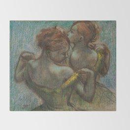 "Edgar Degas ""Two dancers - half-length"" Throw Blanket"