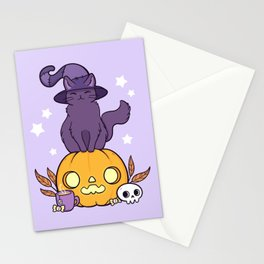 Pumpkin Cat Stationery Cards