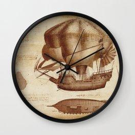 Leonardo Da Vinci's Airship Wall Clock