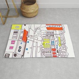 Suburb - city drawing Rug