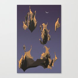 Floating cliff Canvas Print