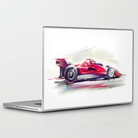 racing Laptop & iPad Skins featuring racing car2 by tatiana-teni