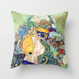"Gustav Klimt ""Baby (Cradle)"" Throw Pillow"