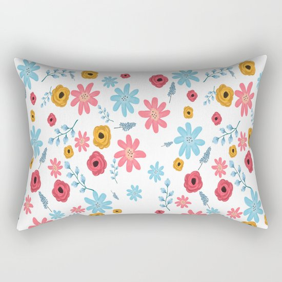 Colors Flowers 3 Rectangular Pillow