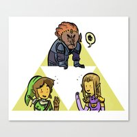 triforce Canvas Prints featuring Triforce by JosephGribbin