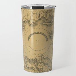 Map of North Pole 1855 Travel Mug