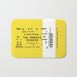 Concert Ticket Stub - The Monkees Reunion Bath Mat