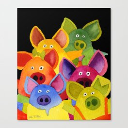 Fun Pigs Canvas Print