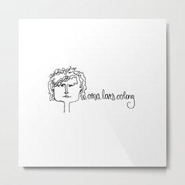 oona loves oolong Metal Print