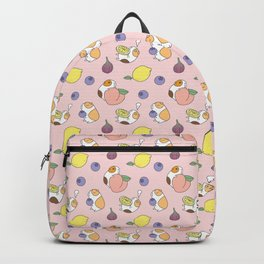 Guinea pig and fruits pattern Backpack