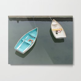 Two Rowboats Waiting for a Friend Metal Print