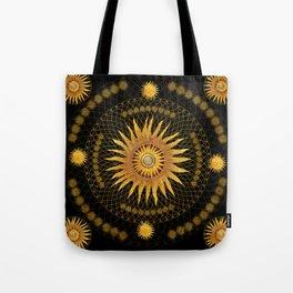 """""""Black & Gold Vault Mandala"""" Tote Bag"""