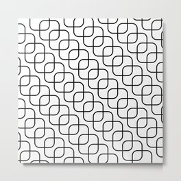 kaskada (white) Metal Print