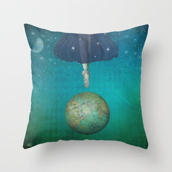 Dancing universe Throw Pillow