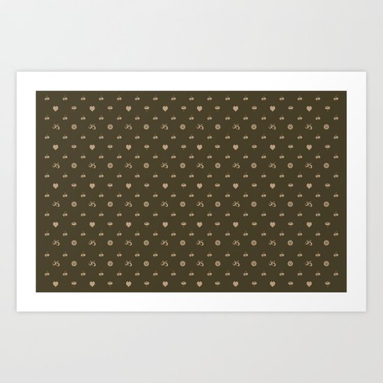 pixel texture Art Print