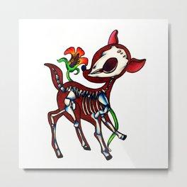 Deer Skeleton Metal Print