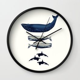 Whale Counting 123  Wall Clock
