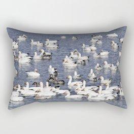 Snow Geese at Centennial Beach Rectangular Pillow