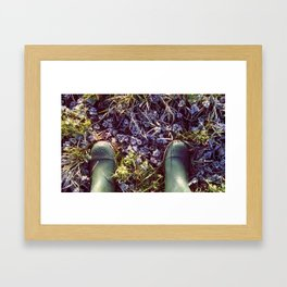 January, I love you, but you're bringing me down Framed Art Print