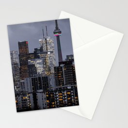 City night ville Stationery Cards