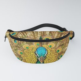 peacock in close up photography Fanny Pack