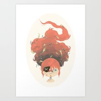 pirate Art Prints featuring pirate by yohan sacre