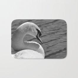 Sunning Swan by Teresa Thompson Bath Mat