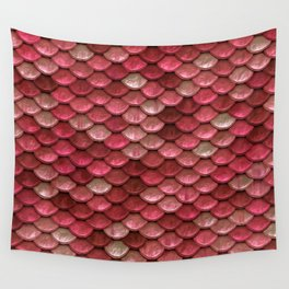 Red Penny Scales Wall Tapestry