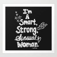 tina belcher Art Prints featuring Smart, Strong, Sensual Woman - Tina Belcher by Sewzinski
