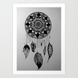 catch your dreams - pattern art Art Print
