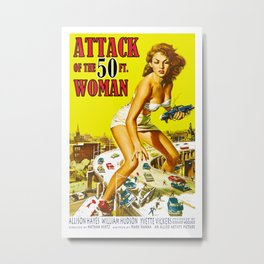 Attack of the 50-ft. Woman Metal Print
