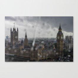 Parliament in the Rain Canvas Print