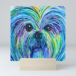 Shih Tzu Intense Colors Mini Art Print