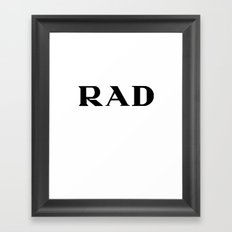 Rad Couture Typography Framed Art Print