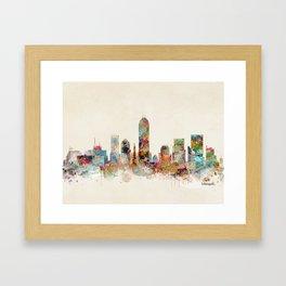 indianapolis indiana Framed Art Print