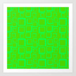 Green Squares On Green Art Print