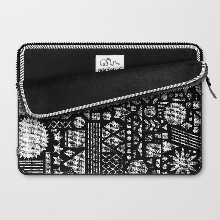Modern Elements with Black. Laptop Sleeve