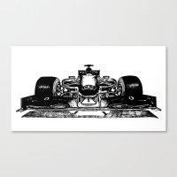 formula 1 Canvas Prints featuring Formula 1 car by Cosy Walnut