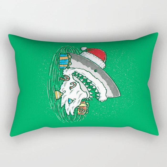 The Santa Shark Rectangular Pillow