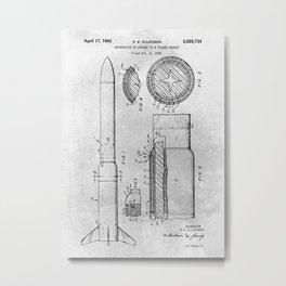 Separation staged rocket Metal Print