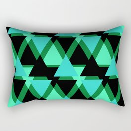 Abstract pattern . The green triangles . Rectangular Pillow