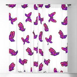Happy colorful butterflys Blackout Curtain