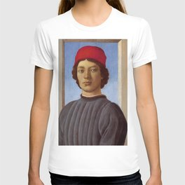 """Sandro Botticelli """"Portrait of a young man with red hat"""" T-shirt"""