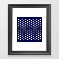 Hedgehog Polka Dot Framed Art Print