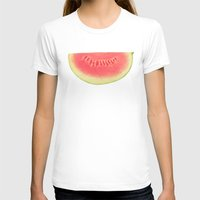 watermelon T-shirts featuring Watermelon by Cassia Beck